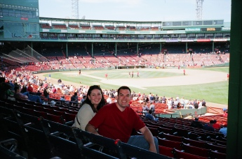 First trip to Fenway. It was my favorite park then, and it's my favorite park today. Watched Pedro strike out a dozen on a sunny Saturday afternoon.