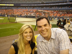 Tip to all you married guys. If you ever have the chance to take a picture with Erin Andrews and your wife is there - Pass.