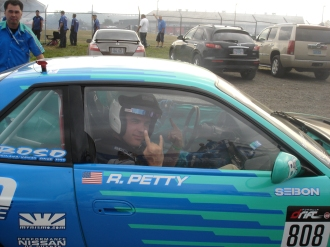 Passenger in a Formula Drift car. I told him he could go faster.