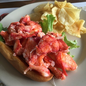 My first lobster roll. It tasted like a sandwich filled with tongues.