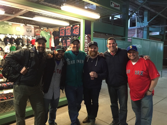 Ran into a group of guys from Seattle that were on a ballpark trip between Boston and Chicago.
