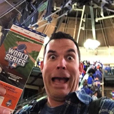 Holy crap, I'm at the World Series!