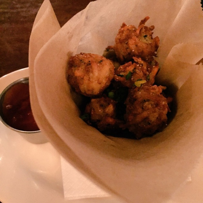 Homemade tater tots in New York. I could have eaten another four sleeves of these.