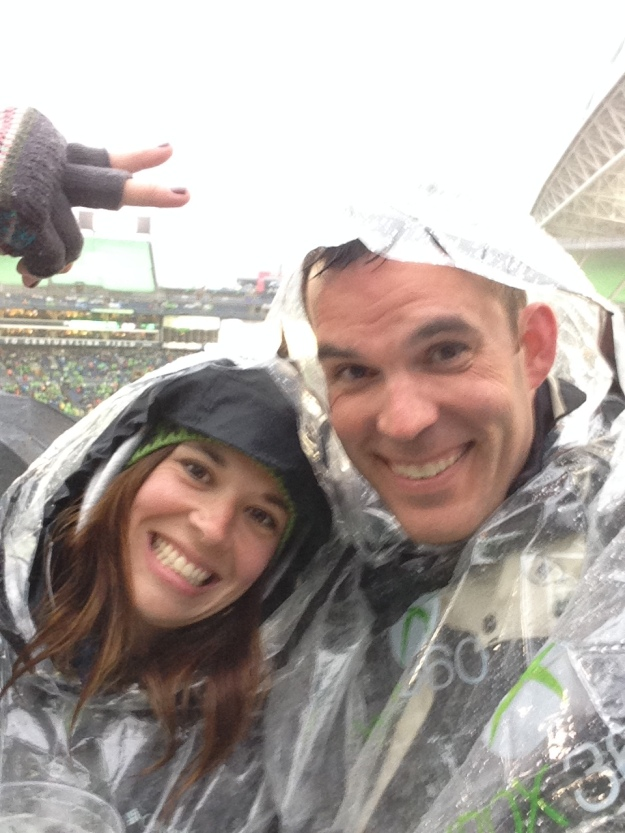 Sounders game with my good friend, B! Neither of us like soccer.