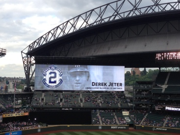 Took the girls to see Jeter play in New York, it's only right I take them to see him again in Seattle!