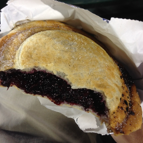 They were selling mini blackberry pies at Raley Field in Sacramento. This thing was awesome! Great flavor. I wish I'd had two.